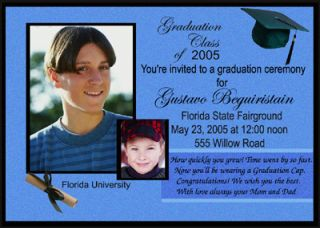 Personalized Graduation Invitations Graduation Announcements with