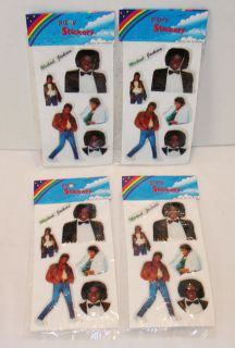 Michael Jackson 1980s Puffy Sticker Mint SEALED Packs