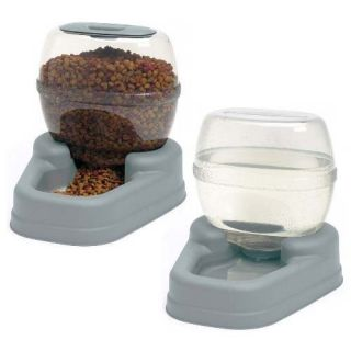 Petite Dog Cat Small Pet Gourmet Food 1 5g Water Combo Dish Set