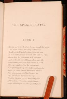 beautiful first edition copy of George Eliots poem The Spanish Gypsy