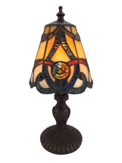 Stained Glass Mini Accent Lamp Light Baroque Design