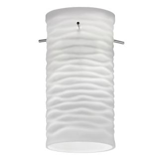 Lithonia Lighting Mini Pendant with Glass Cylinder Wave Shade in