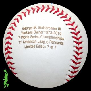 George Steinbrenner Signed Auto World Series Champs Baseball Ball