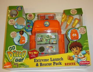 Fisher Price Go Diego Go Extreme Launch & Rescue Pack Toy Nick Jr NEW