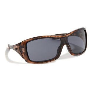 New Oakley Womens Forsake Sunglasses Topaz Tortoise Grey Lens