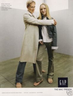 Glenn Close Annie Starke Gap Bare Feet 2002 Magazine Print Ad H