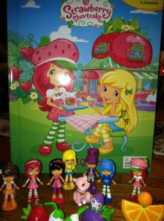 Strawberry Shortcake Story Book Playset 12 Figures Cake Topper