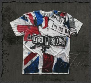 Sex Pistols ★ Anarchy in The UK Punk Rock Art T Shirt England Band