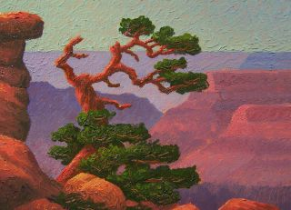 Glass, Grand Canyon, Lone Cedar #2 (Byxbe Sandzen) Start $1