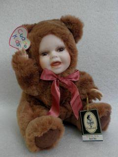 Geppeddo Cuddle Kids Buster Bear Teddy Doll Porcelain