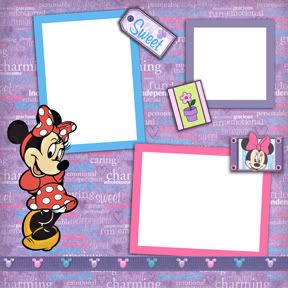 Disney Mickey Minnie Digital Scrapbook Premade Kit