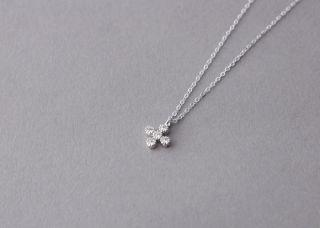 Swarovski Small Cross Necklace White Gold Filled Cross Jewelry