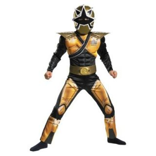 Power Rangers Samurai MEGA Gold Ranger Costume M 7 8 Boys Child Kids