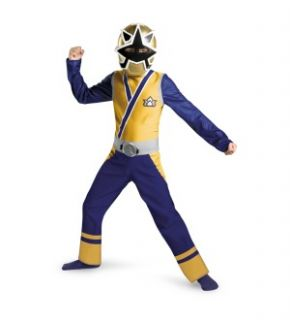 in his Power Rangers Gold Ranger Samurai Classic Child Costume