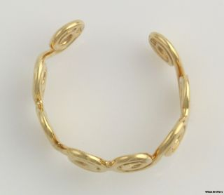 High Karat Swirled Toe Ring   18k Yellow Gold Adjustable Solid Curly Q