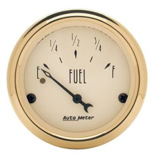 Autometer Golden oldies Electrical Fuel Level Gauge 2 1 16 Beige