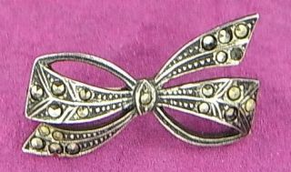 Art Nouveau Brooch Silver Jewelry Antique German I13