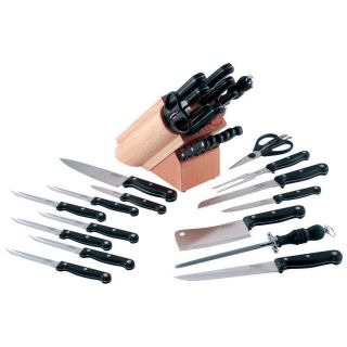 German Gourmet Commercial 16pc Stainless Steel Kichen Knives Cutlery