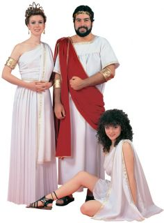 Toga Costume Men Greek God Julius Caesar Zeus Apollo Tunic Roman Robe