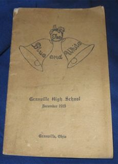 Granville Ohio Dec 1919 High School Book Magazine Licking Co Oh