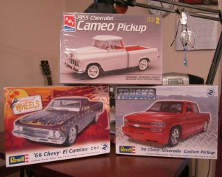 Chevy Truck Package 3 Kits Silverado Cameo El Camino New in Plastic