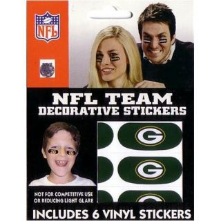 GREEN BAY PACKERS LOGO EYE BLACK VINYL FACE DECORATIONS/STICKERS