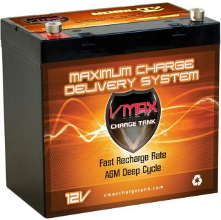 AGM Dry Cell VMAX MB96 1300 Maintenance Free Golf Cart Battery