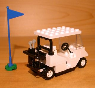 GOLF CART for town/city/club/train LEGO white golfer gift set flag