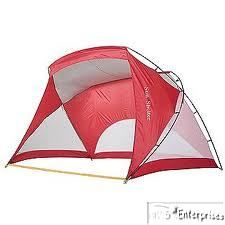 instant pop up sun shelter cabana beach tent shelter 12 x 6 NEW Red
