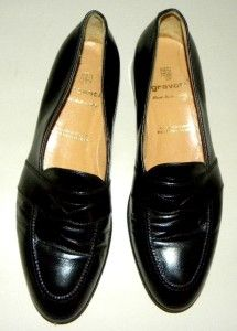 Gravati Black Leather Mens Dress Loafers Size11 5M in Italy