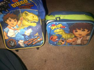 Go Diego go backpack and lunch box/cooler Nick jr Dora the Explorer