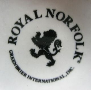 Royal Norfolk Graphic Black on White Large Coffee Mugs 10 Oz
