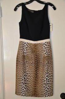 Giambattista Valli Leopard Print Shift Dress 40 XS