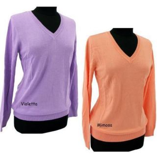 2012 Greg Norman Womens Golf V Neck Sweater G2S2S455 Two Colors