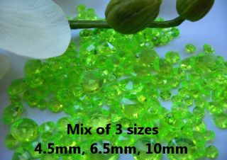 Lime Green Wedding Table Diamonds Scatter Crystals