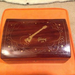 Gibson Les Paul Jewelry Accessories Wood Box Vintage