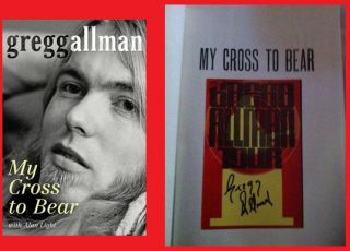 Gregg Allman Autographed Book Signed My Cross to Bear w COA