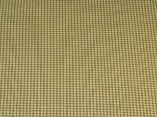 Mill Creek Green Gold Check Cotton Print Fabric BTY