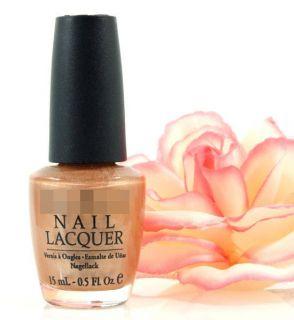 OPI Nail Polish Lacquer Golden Rules Metallic Gold Shimmer New Free US