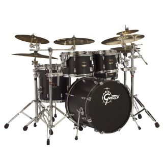 Gretsch Renown Maple Drum Set Fusion 20 Bass Satin Black 4pc Shell