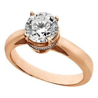 Engagement Ring Diamond 18K Rose Gold Mounting Setting