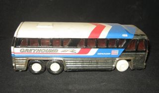 Old Vintage Friction Greyhound Bus Macau 1980 RARE
