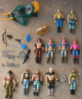 Zartan 10 Dreadnoks Vintage Gi Joe Action Figures