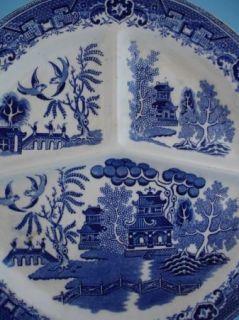 Villeroy Boch Blue Willow Divided Grill Plate Saar Basin