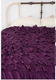Urban Outfitters Waterfall Ruffle Duvet Cover Comforter Full Queen