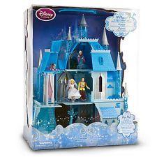 Disney Magical Cinderella Castle Play Set NIB 16 pcs NEW working light