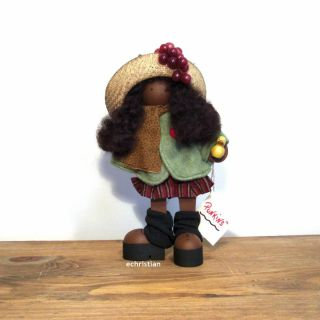 GILDA PUNKINS BROWN SKIN TONE WOOD DOLL LiZZie HIGH by LADIE and