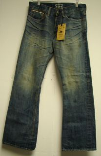 Gilded Age Selvedge Japanese Raw Denim Distressed Mens Bootcut Jeans