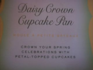 Williams Sonoma Daisy Crown Cupcake Pan New Cute HTF