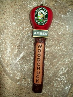 Woodchuck Hard Cider Amber Apple Wooden Figural Tap Handle 12 New